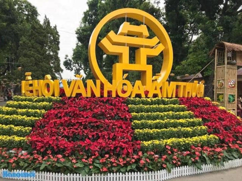 Công ty Cổ phần Dược liệu Bông Sen Vàng giới thiệu sản phẩm trà dược của Hà Giang tại Lễ hội văn hóa ẩm thực Hà Nội năm 2019